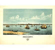Panoramic Maps Provincetown Photographic Print