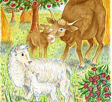 """Illustrazione per """" Sull'aia"""" by Francesca Romana Brogani"""