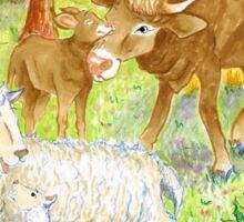 """Illustrazione per """" Sull'aia"""" Sticker"""