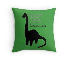 Dinosaur Races Throw Pillow