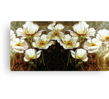 Wild Flowers Oil Painting Canvas Print