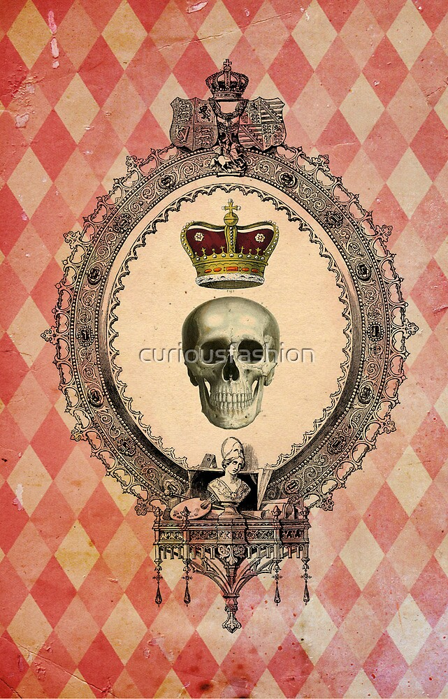 Skull & Crown iPhone Case by curiousfashion