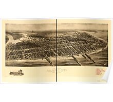 Panoramic Maps Aero view of Atlantic City New Jersey 1909 Poster