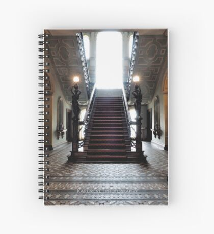 Mansion Staircase Spiral Notebook