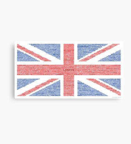 Union Jack - Towns & Cities Canvas Print