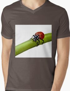 Lady In Red                ( LadyBug Series ) Mens V-Neck T-Shirt