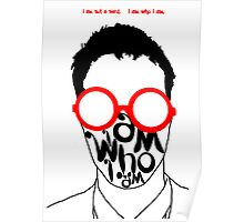 I am not a nerd...who are you? Poster