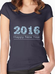 New Year; Christmas; winter. Women's Fitted Scoop T-Shirt