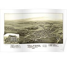 Panoramic Maps Telford Montgomery County Pennsylvania 1894 Poster