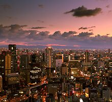 View from Umeda Sky Building during Sunset by Thiranja, Prasad Babarenda Gamage