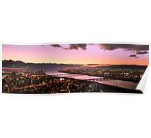 Another view from Umeda Sky Building during Sunset Poster