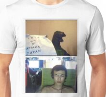 Dinosaur On Web Cam Unisex T-Shirt