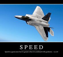 Speed: Inspirational Quote and Motivational Poster by StocktrekImages