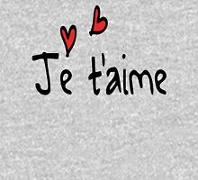 Je T'aime typo Women's Fitted Scoop T-Shirt