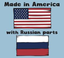 Made In America With Russian Parts Kids Tee