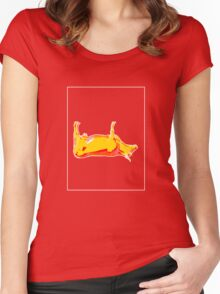 Cow Yellow Red E Women's Fitted Scoop T-Shirt
