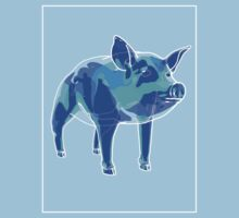 Pig Blue Green A by Noel Richards