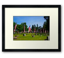 Memorial Rows Framed Print