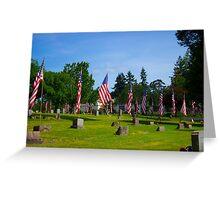 Memorial Rows Greeting Card