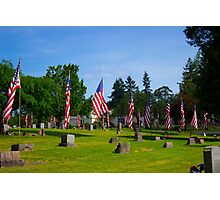 Memorial Rows Photographic Print
