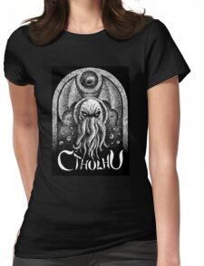 Cthulhu tombstone Womens Fitted T-Shirt