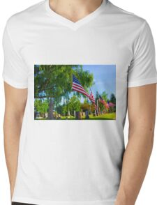 Monuments Mens V-Neck T-Shirt