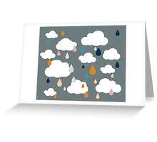 Dark Grey Rainy Day Greeting Card