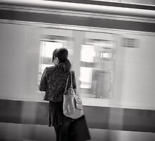 Waiting for the Train - Japan by Norman Repacholi