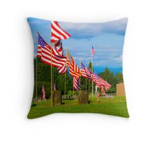 Patriot Row Throw Pillow