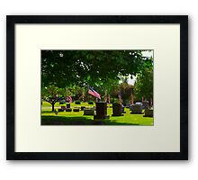 Shady Stones Framed Print