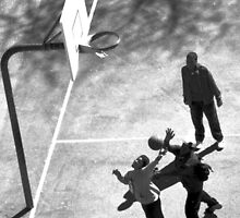 Playing ball in Bronx, NYC by Alberto  DeJesus