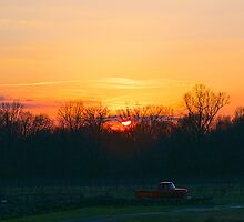 Sunset Over the Vineyard by Aaron Poach