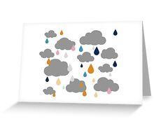 I Love Rainy Days Greeting Card