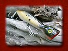 Husband Anniversary Card - Saltwater Fishing Lure - Popper by MotherNature