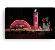 Las Vegas with Watercolor Effect Canvas Print