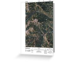 USGS Topo Map Washington State WA Timberwolf Mountain 20110506 TM Greeting Card