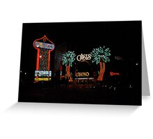 Las Vegas with Watercolor Effect Greeting Card
