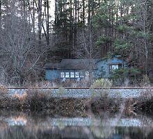 Haunting Blue House by Okeesworld