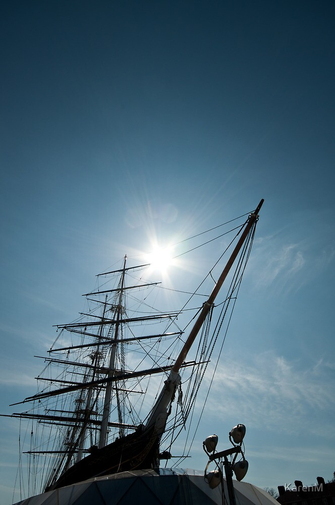 Masts and Prow of the Cutty Sark by Karen Martin