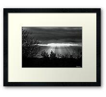 The Last Rays! Framed Print