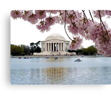 Blossoms Over Jefferson Canvas Print