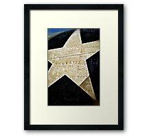 Lone star Framed Print