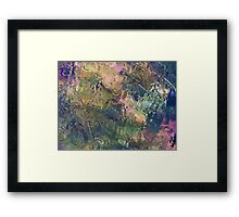 Heavy Rain on Windshield in Autumn Framed Print