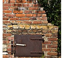 Historic outdoor brick stove Photographic Print