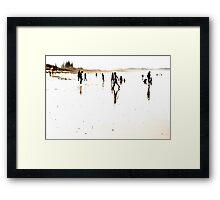 A Beach Moment - Seven Mile Beach Framed Print