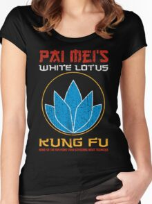 Your so-called kung-fu is really quite pathetic Women's Fitted Scoop T-Shirt