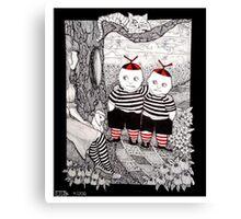 The Tweedles Canvas Print