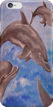 Dolphin High Five by taiche