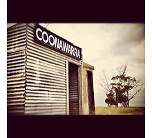 The still aging Coonawarra Train Station Photographic Print
