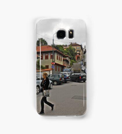 A streetscape Samsung Galaxy Case/Skin
